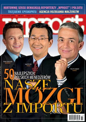 Okładka tygodnika Wprost nr 37/2003 (1085)