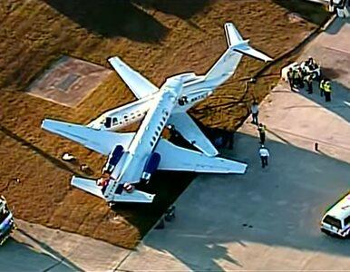Dwa samoloty zderzyły się po awaryjnym lądowaniu jednego z nich. Jest...