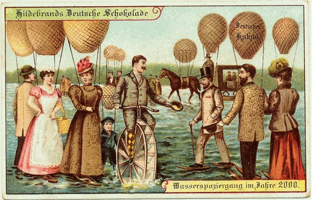 Podróżowanie po powierzchni wody dzięki balonom