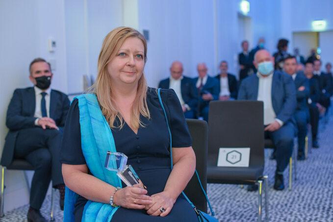 Dr Agnieszka Jagiełło-Gruszfeld z nagrodą Innowator Wprost w kategorii Osobowość