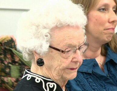 99-latka skończyła szkołę średnią... 80 lat po rozpoczęciu w niej nauki