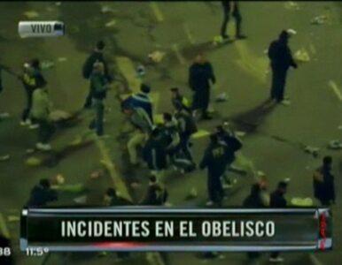 Brutalne starcia argentyńskich kibiców z policją w Buenos Aires
