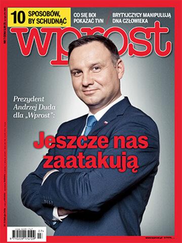 Okładka tygodnika Wprost nr 7/2016 (1724)