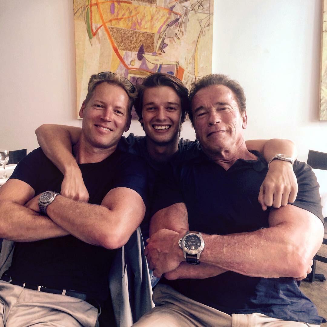 Arnold Schwarzenegger z bliskimi