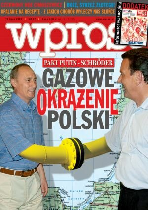 Okładka tygodnika Wprost nr 27/2005 (1179)