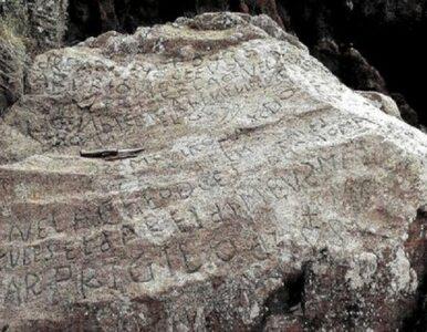 Naukowcy nie mogą odczytać napisu na skale. Oferują wysoką nagrodę za pomoc