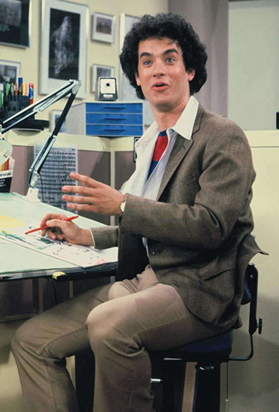 "Tom Hanks w serialu ""Bosom Buddies"" (1980-1982)"