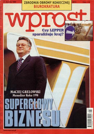 Okładka tygodnika Wprost nr 5/1999 (844)