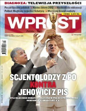 Okładka tygodnika Wprost nr 45/2009 (1398)