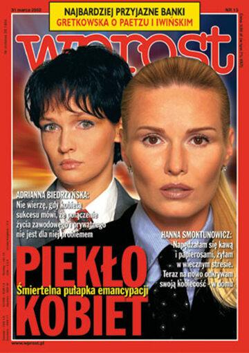 Okładka tygodnika Wprost nr 13/2002 (1009)