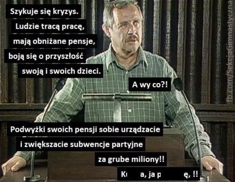 Mem komentujący podwyżki wynagrodzeń polityków