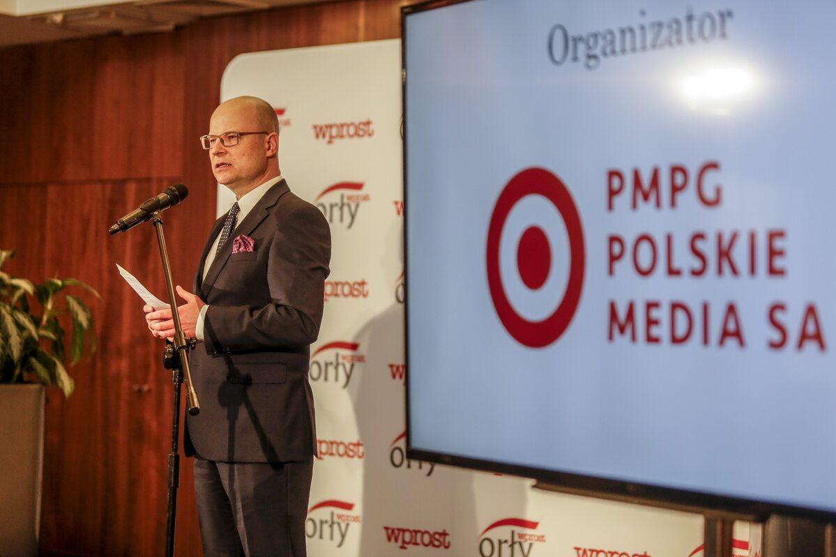 Andrzej Chmiel, członek rady nadzorczej PMPG Andrzej Chmiel podczas pomorskiej gali Orłów