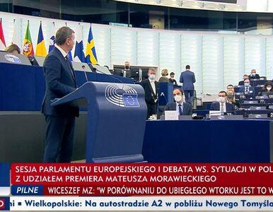 Morawiecki przyłapany na kłamstwie w PE. Halicki stracił nerwy: Do mnie...