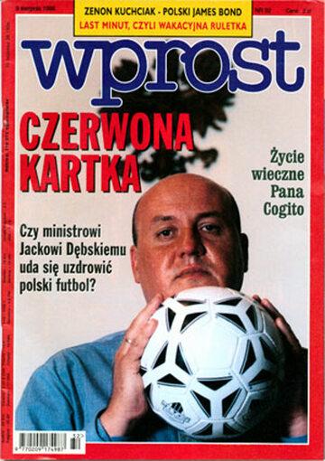 Okładka tygodnika Wprost nr 32/1998 (819)