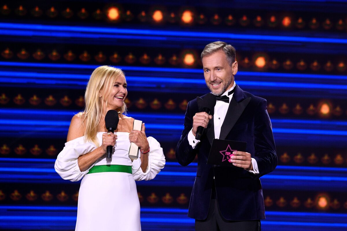Monika Olejnik i Piotr Kraśko w Sopocie