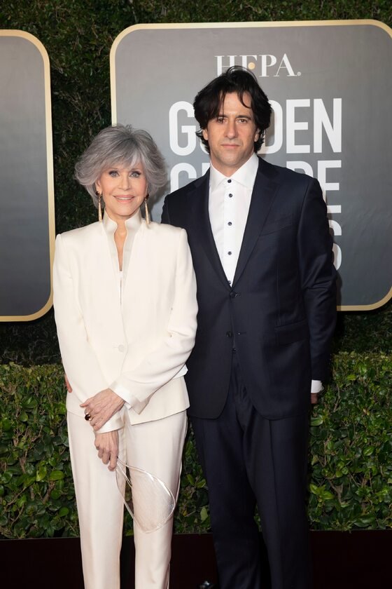 Jane Fonda i jej syn Troy Garity