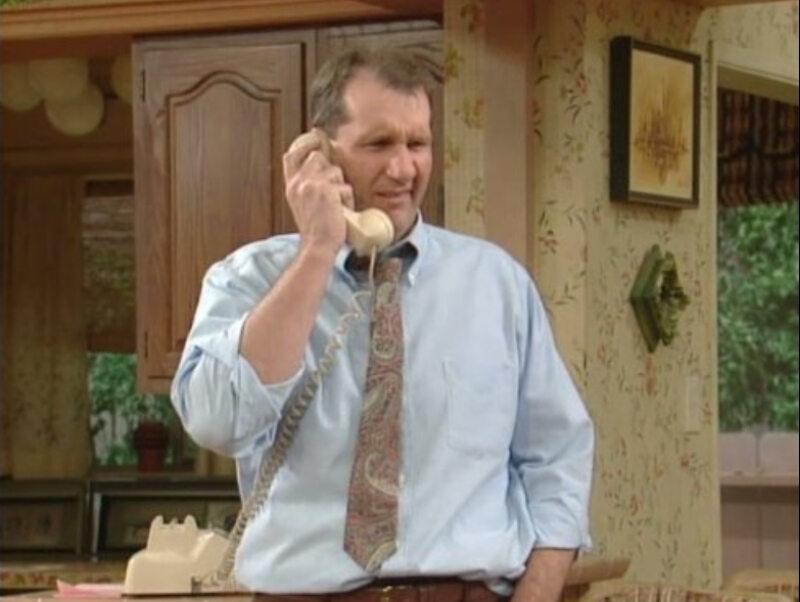 """Ed O'Neill jako Al Bundy w serialu """"Świat według Bundych"""" (1987)"""