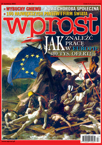 Okładka tygodnika Wprost nr 17/2003 (1065)