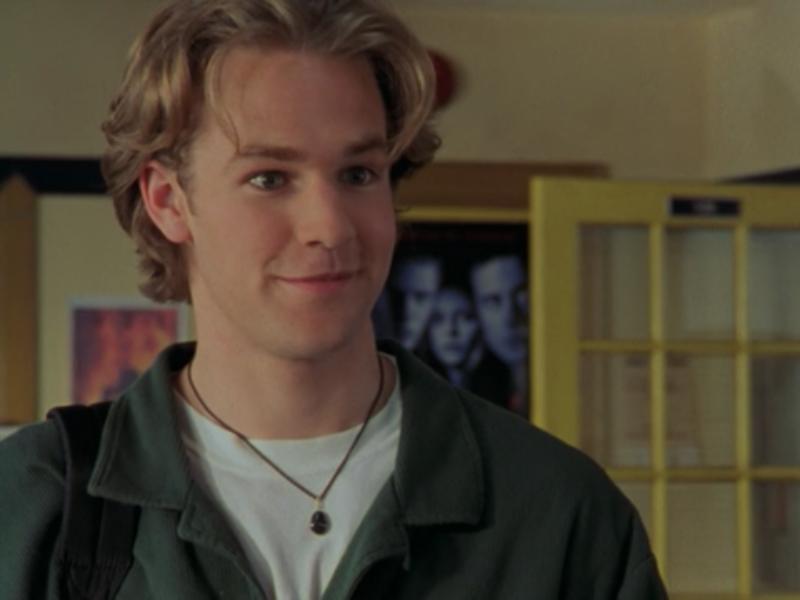 "James Van Der Beek jako Dawson Leery w serialu ""Jezioro marzeń"""