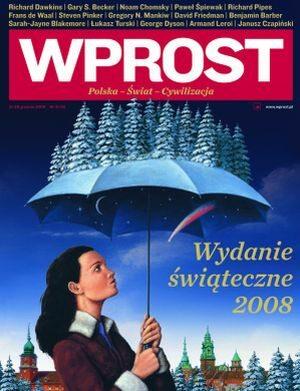 Okładka tygodnika Wprost nr 51/52/2008 (1356)