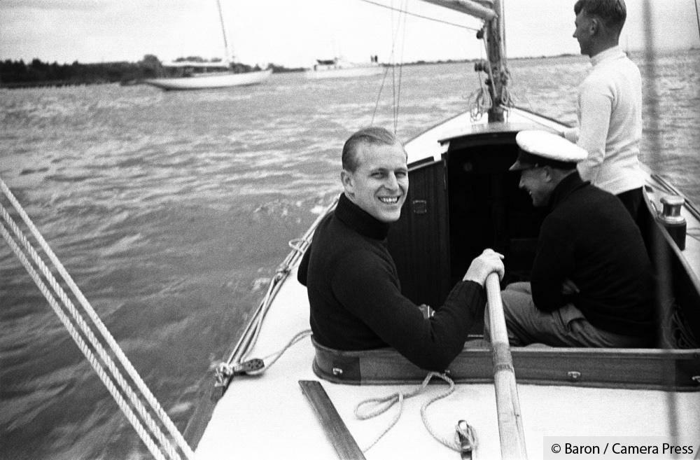 Książę Filip w roli żeglarza