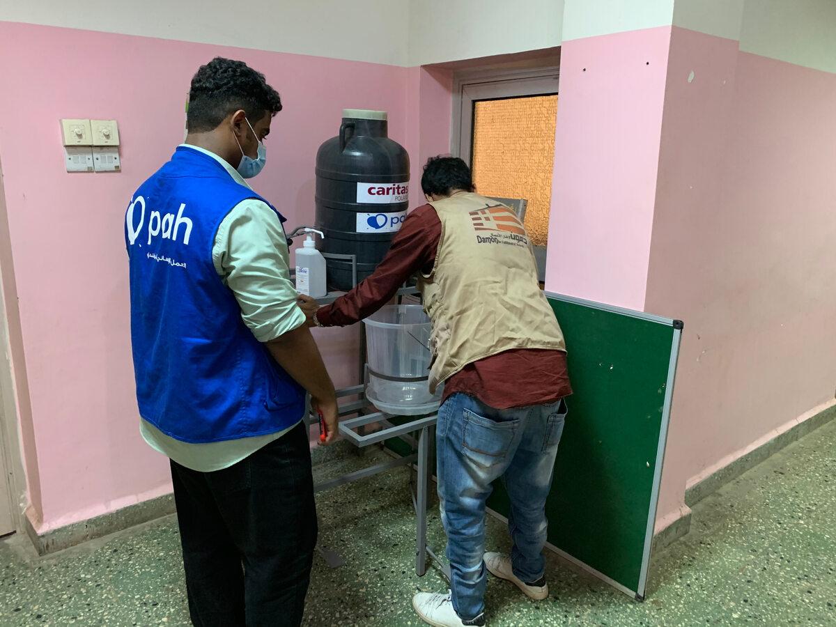Jemen. Instalacja punktu mycia rąk