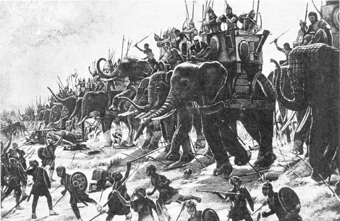 Czerwiec bądź lipiec roku 207 p.n.e. Bitwa nad Metaurus. Starcie zbrojne w   trakcie drugiej wojny punickiej. W bitwie stanęły naprzeciw siebie armie   Hazdrubala oraz rzymskich konsulów Gajusza Klaudiusza Nerona i Marka Liwiusza Salinatora.(fot. domena p