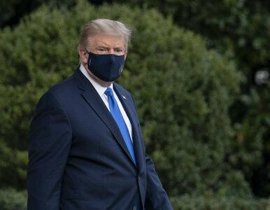 """Są nowe informacje o stanie zdrowia Trumpa. """"Epizody spadku nasycenia..."""
