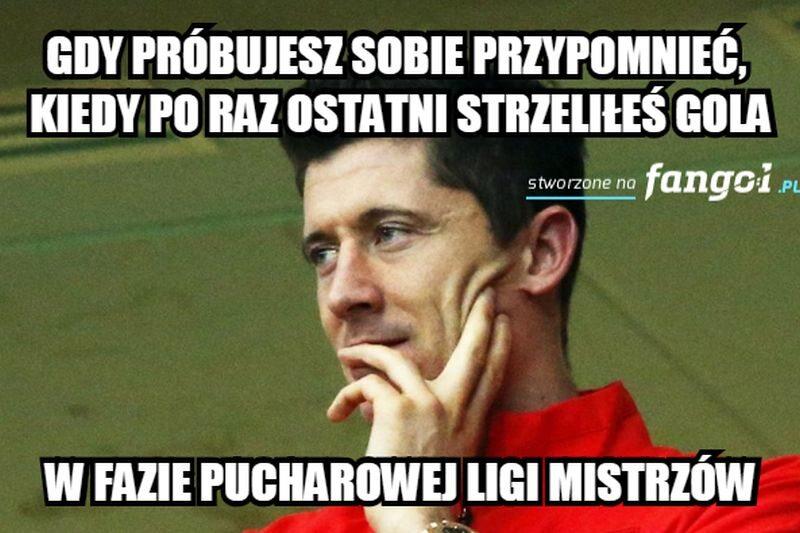 Robert Lewandowski znów nie błyszczał w ważnym meczu w Lidze Mistrzów