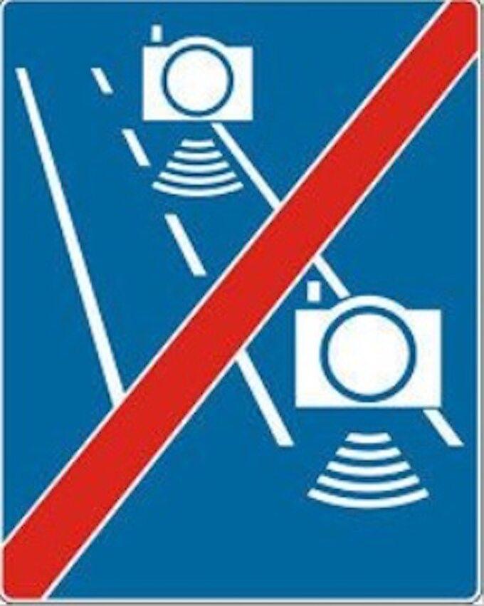 Znaki odcinkowego pomiaru prędkości