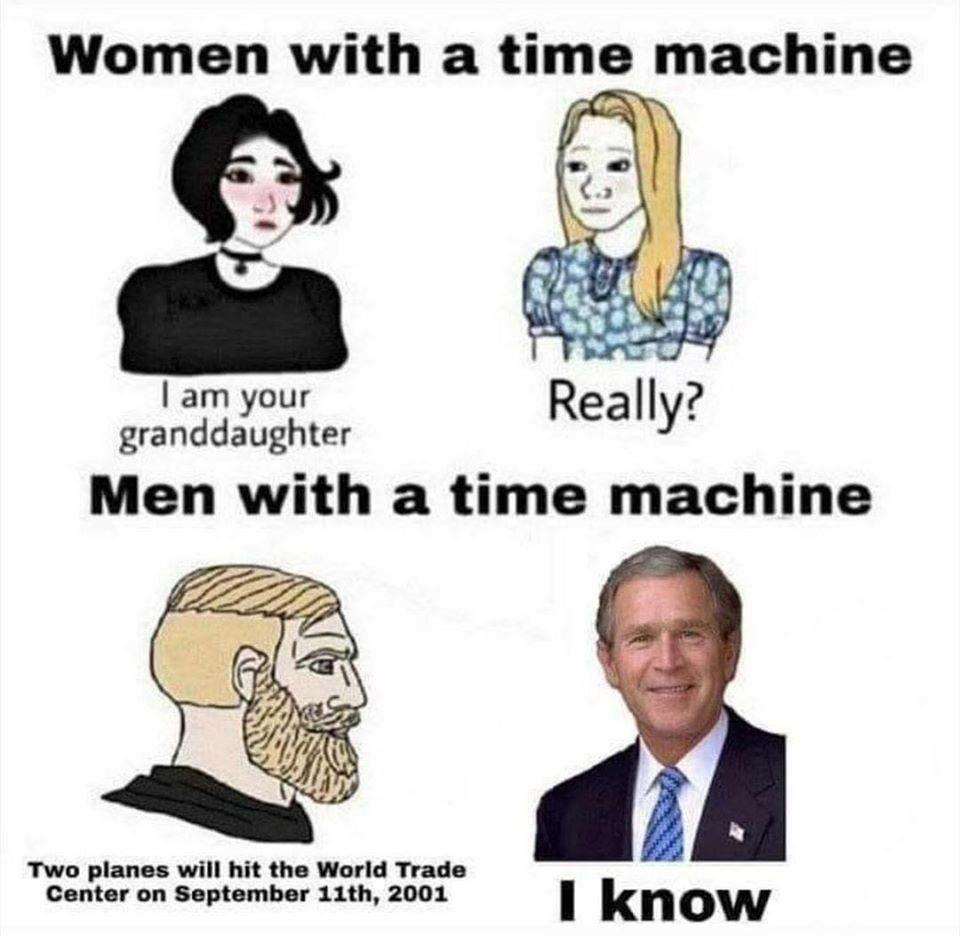 Mem żartujący z wykorzystania wehikułu czasu