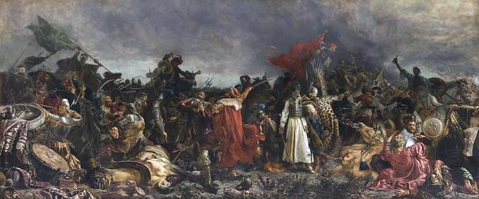Bitwa podCecorą, obraz pędzla Witolda Piwnickiego