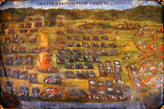 Bitwa podKłuszynem, obraz autorstwa Szymona Boguszowicza