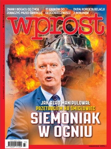 Okładka tygodnika Wprost nr 33/2015 (1692)