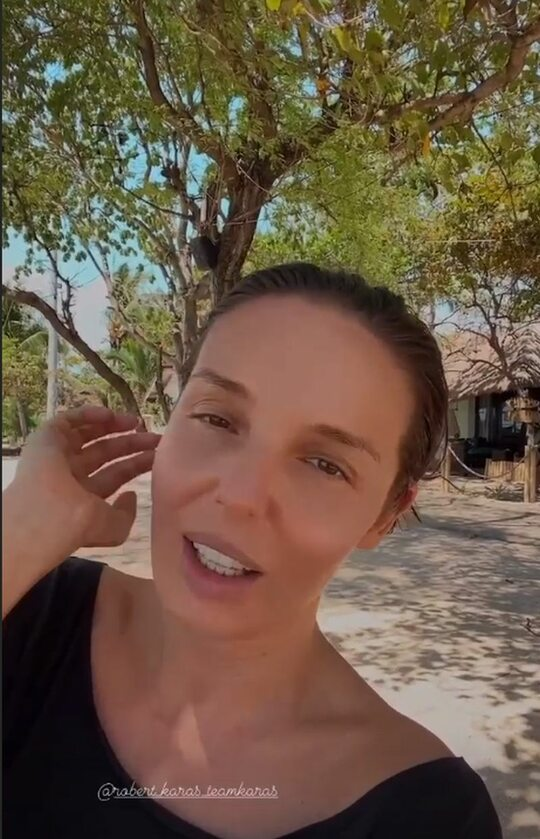 Agnieszka Włodarczyk z partnerem na wyspie Gili