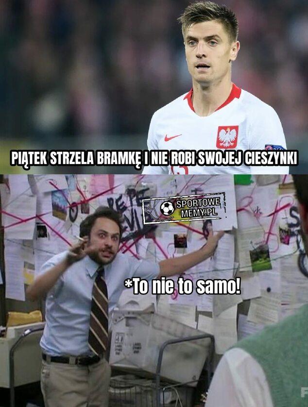 Mem po bramce Krzysztofa Piątka