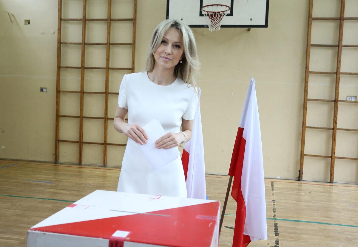 Magdalena Ogórek podczas wyborów prezydenckich w 2015 roku