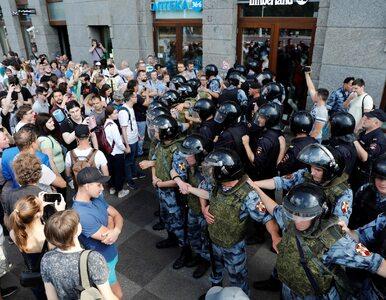 Rosja. Policja zatrzymała setki osób protestujących w Moskwie