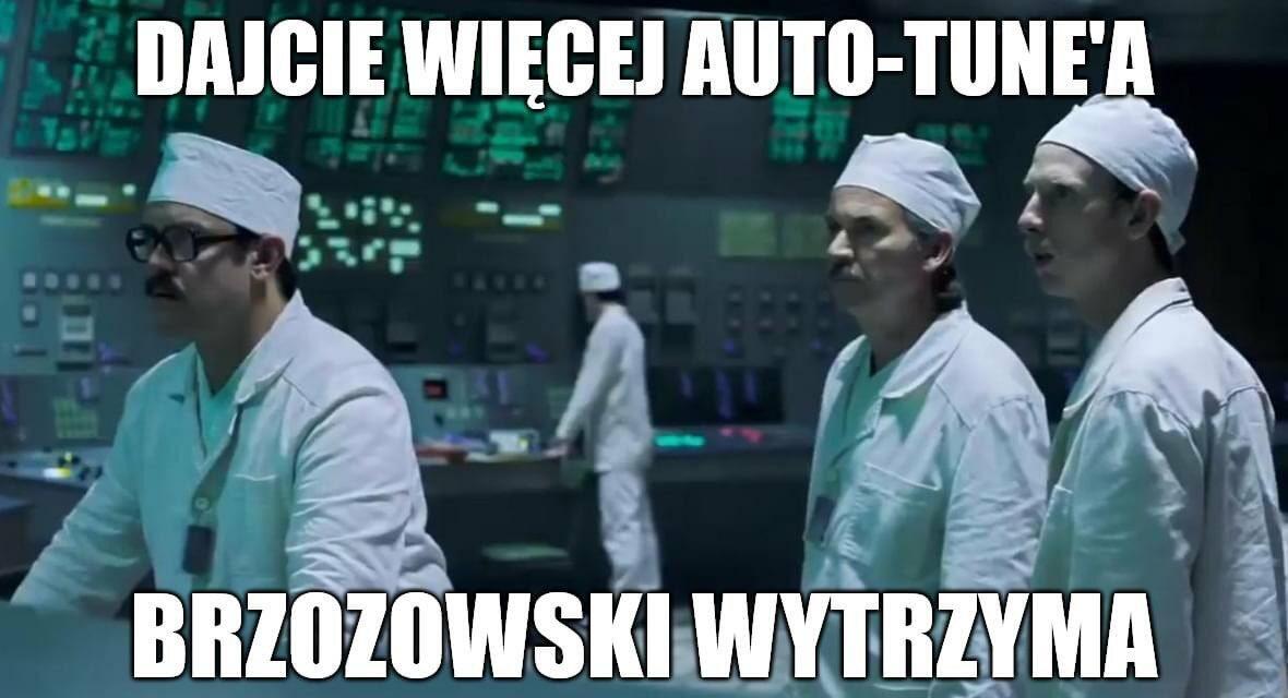 Mem komentujący wystawienie Rafała Brzozowskiego w konkursie Eurowizji