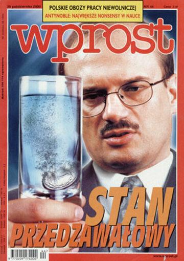 Okładka tygodnika Wprost nr 44/2000 (935)