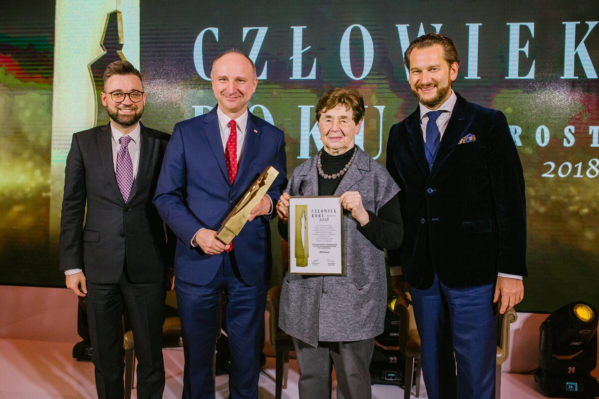 Depozytariusze nagrody Człowiek Roku 2018 – Wojciech Kolarski i Zofia Romaszewska