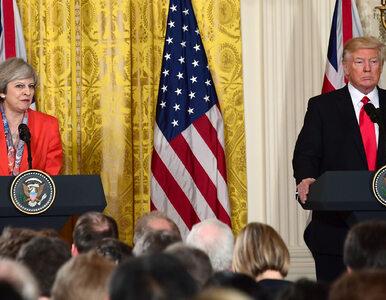 """Trump spotkał się z premier Wielkiej Brytanii. """"Kluczowym punktem..."""