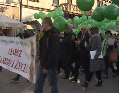 Ulicami Krakowa przeszedł Marsz Nadziei i Życia