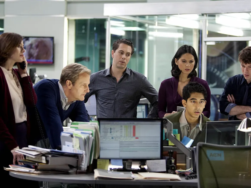 "Kadr z serialu ""Newsroom"""