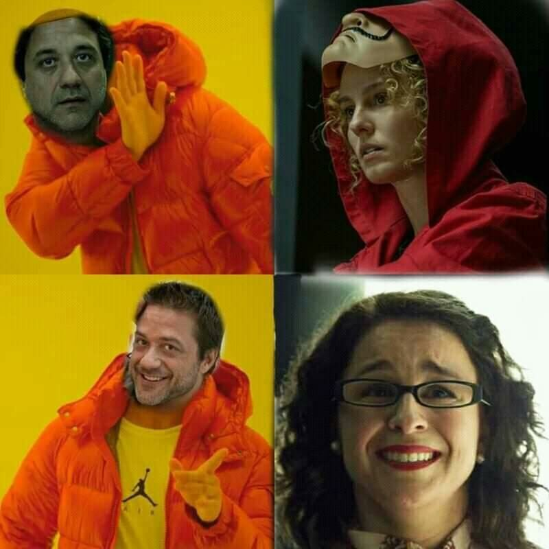 "Mem po 4 sezonie ""Domu z papieru"""