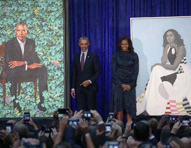 """Obrazy Michelle i Baracka Obamów w słynnej Galerii Portretów. """"Niezły..."""