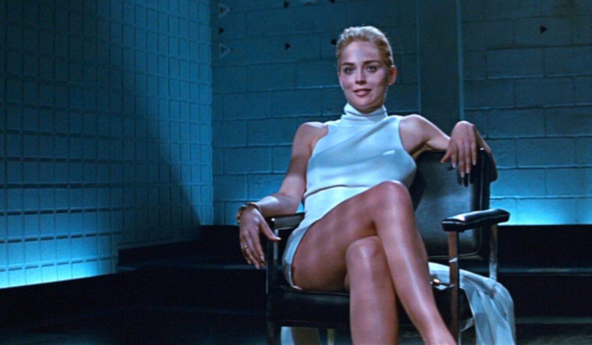 """Sharon Stone w filmie """"Nagi Instynkt"""" (1992)"""