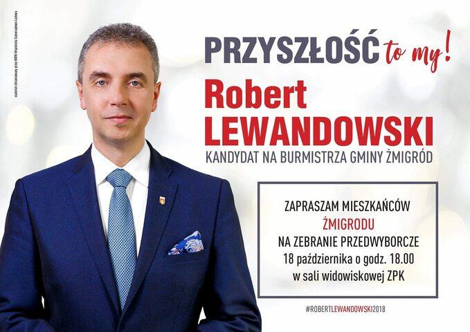 Plakat wyborczy Roberta Lewandowskiego