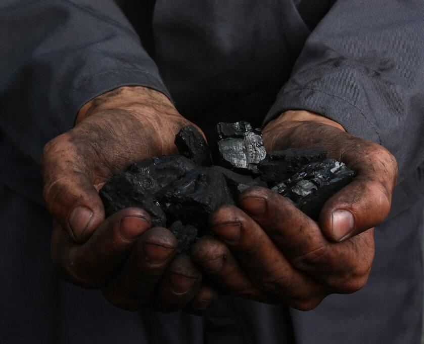 Węgiel w dłoniach