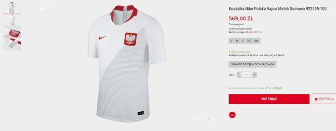Nowa koszulka reprezentacji Polski za569 zł